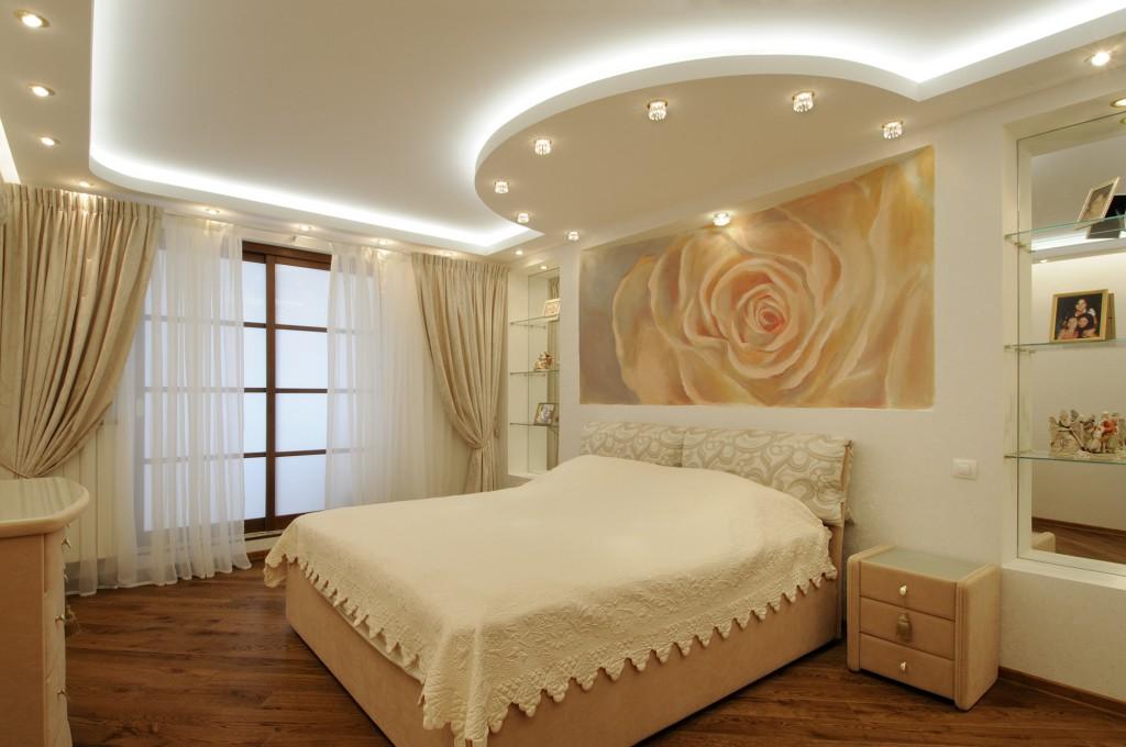 двухуровневые натяжные потолки с подсветкой цена